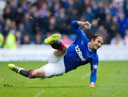 Stock Picture of Niko Kranjcar of Rangers slips on the ball