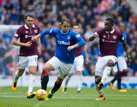 Editorial photo of Rangers v Heart of Midlothian, SPFL Ladbrokes Scottish Premiership, Ibrox Stadium, Glasgow, UK - 19 August 2017