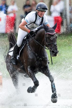 Nicola Wilson of Britain on horse Bulana competes in the Cross Country test competition during the FEI European Championships Eventing in Strzegom, Poland, 19 August 2017.