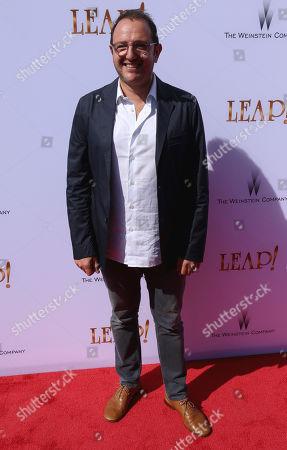 "Producer Laurent Zeitoun arrives at the LA Premiere of ""Leap!"", in Los Angeles"