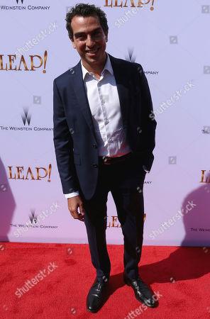 "Producer Yann Zenou arrives at the LA Premiere of ""Leap!"", in Los Angeles"