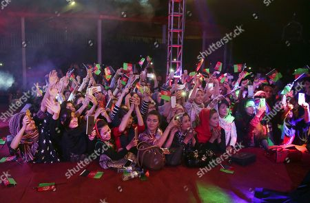 Aaron R. Butler Female fans gather near the stage to watch Afghan female singer Aryana Sayeed perform during a concert to commemorate Afghanistan's Independence Day in Kabul, Afghanistan, . Afghanistan gained independence from Britain 98 years ago