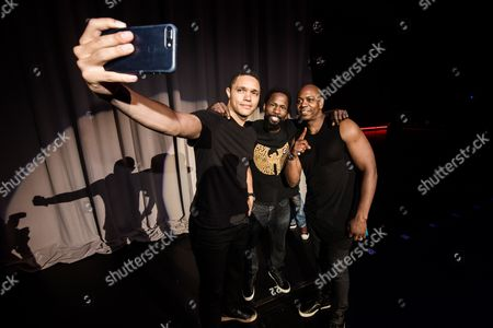 Trevor Noah, Wil Sylvince and Dave Chappelle