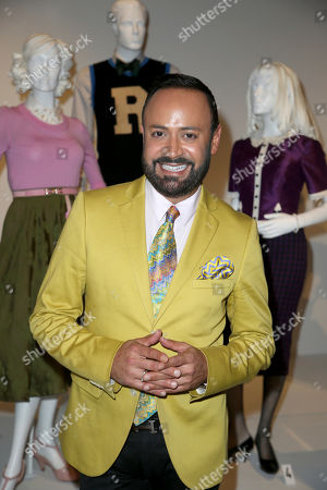 """Stock Picture of Nick Verreos, FIDM Alum and Spokesperson, at the 11th annual """"Art of Television Costume Design"""" opening at the FIDM Museum & Galleries on the Park on in Los Angeles"""