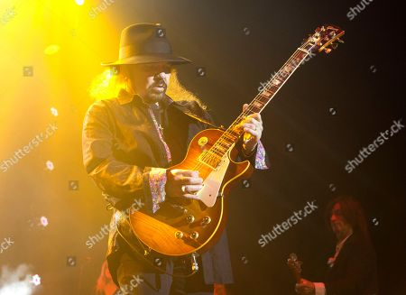 Gary Rossington of the band Lynyrd Skynyrd performs in concert at The BB&T Pavilion, in Camden, N.J