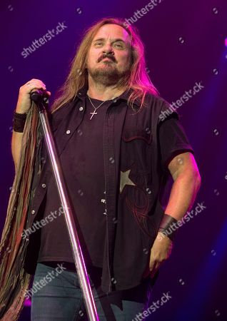 Stock Picture of Johnny Van Zant of the band Lynyrd Skynyrd performs in concert at The BB&T Pavilion, in Camden, N.J