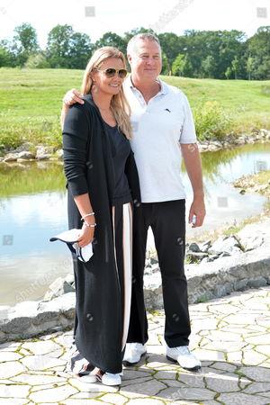 Franziska van Almsick mit ihrem partner Juergen B. Harder