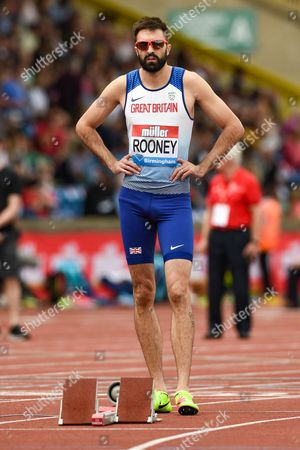 Martyn Rooney of Great Britain at the start of the Men's 400m during the Muller Grand Prix Birmingham 2017 at the Alexander Stadium, Birmingham