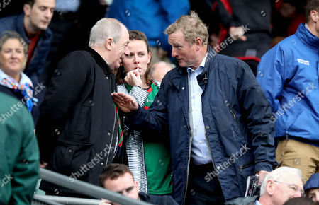 Kerry vs Mayo. Former taoiseach Enda Kenny with TD Michael Ring