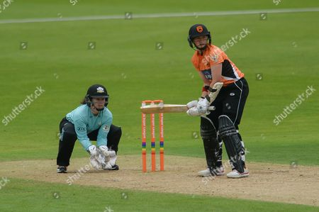 Arran Brindle of Southern Vipers batting during the Women's Cricket Super League match between Southern Vipers and Surrey Stars at the Ageas Bowl, Southampton