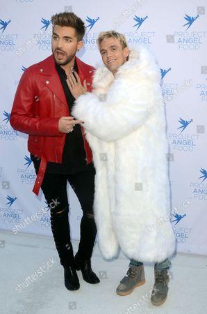 Adam Lambert and Aaron Carter