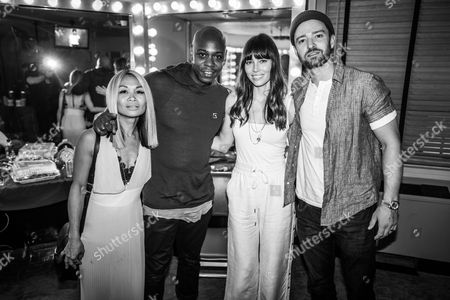 Stock Photo of Elaine Chappelle, Dave Chappelle, Jessica Biel and Justin Timberlake