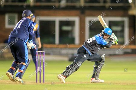 Alex Hepburn of Worcestershire during the Natwest T20 Blast North Group match between Derbyshire County Cricket Club and Worcestershire County Cricket Club at the 3aaa County Ground, Derby