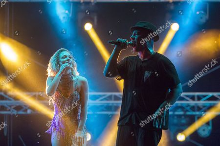 Stock Photo of Lou Bega, singer from Germany, performs on stage during the seventh edition of Gustar Music Festival, at Trebujeni village, Orhei district, 55 km from Chisinau, Moldova, 20 August 2017. The festival takes place from 19 to 20 August.