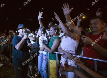 Lou Bega, singer from Germany, performs on stage during the seventh edition of Gustar Music Festival, at Trebujeni village, Orhei district, 55 km from Chisinau, Moldova, 20 August 2017. The festival takes place from 19 to 20 August.