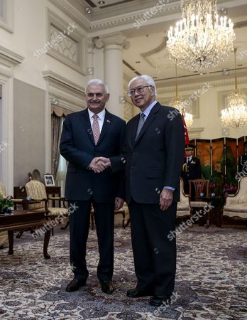 Binali Yildirim and Tony Tan