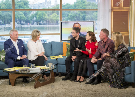 Stock Image of Vincent Simone and Flavia Cacace, and James and Ola Jordan, with Ruth Langsford and Eamonn Holmes