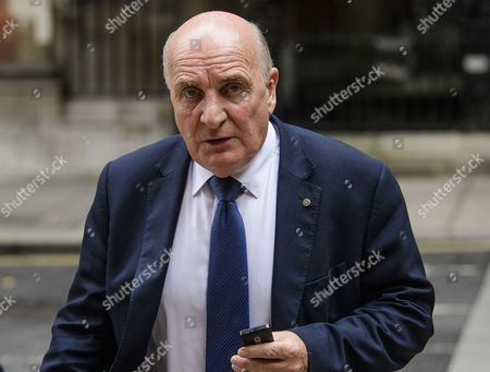 MP Stephen Pound seen in Westminster after Big Ben chimed for the last time ahead of repair works