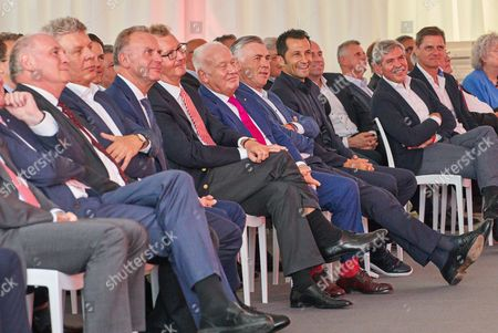 Hermann GERLAND, Karl HOPFNER, Horst SEEHOFER, Uli HOENESS, Karl-Heinz RUMMENIGGE, Dieter REITER