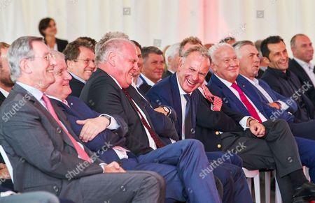 Hermann GERLAND, Karl HOPFNER, Horst SEEHOFER, Uli HOENESS, Dieter REITER,  Karl-Heinz RUMMENIGGE