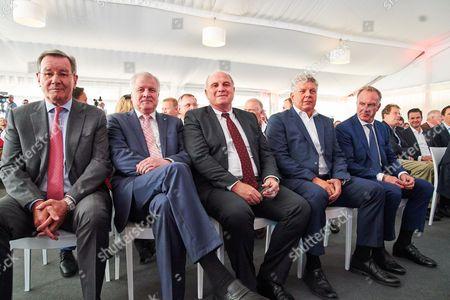 Stock Image of Horst Seehofer, Uli HOENESS, Dieter REITER, , Karl-Heinz RUMMENIGGE, Karl HOPFNER
