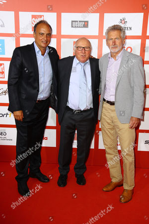 Hansi Mueller Uwe Seeler and Paul Breitner
