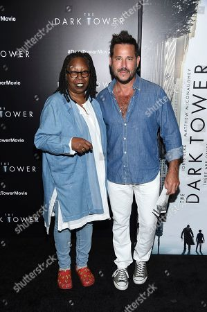 "Whoopi Goldberg, Ricky Paull Goldin Actress Whoopi Goldberg, left, and Ricky Paull Goldin attend a special screening of ""The Dark Tower"" at the Museum of Modern Art, in New York"