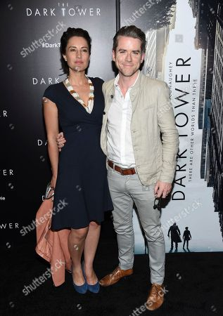 "Stock Image of America Olivo, Christian Campbell America Olivo and Christian Campbell attend a special screening of ""The Dark Tower"" at the Museum of Modern Art, in New York"