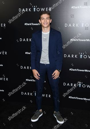 """Stock Photo of Actor Michael Barbieri attends a special screening of """"The Dark Tower"""" at the Museum of Modern Art, in New York"""