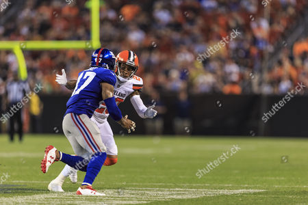 Editorial picture of NFL FOOTBALL Giants vs Browns, Cleveland, USA - 21 Aug 2017