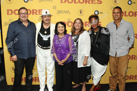 Brian Benson, Carlos Santana, Dolores Huerta, Beth Poppy, Marie Nelson, Peter Bratt