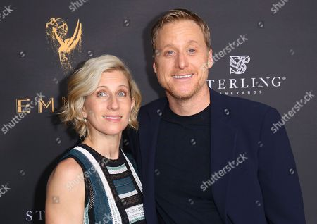 Alan Tudyk, Charissa Barton Alan Tudyk, right, and Charissa Barton arrive at the Performers Peer Group Celebration at the Montage Hotel, in Beverly Hills, Calif