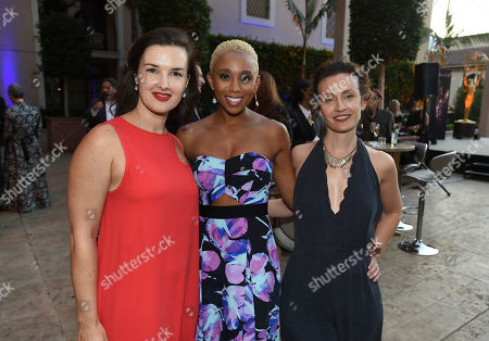 Meredith Riley Stewart, Zee James, Jules Bruff Meredith Riley Stewart, and from left, Zee James, and Jules Bruff attend the Television Academy's 2017 Performers Peer Group Celebration of the 69th Emmy Awards at Montage Beverly Hills, in Beverly Hills, Calif