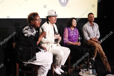 Marie Nelson, Carlos Santana, Dolores Huerta, Peter Bratt