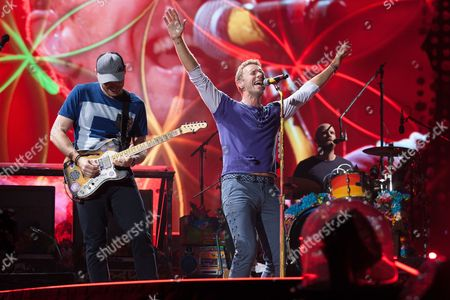 Editorial photo of Coldplay in concert at Rogers Theater, Toronto, Canada - 21 Aug 2017