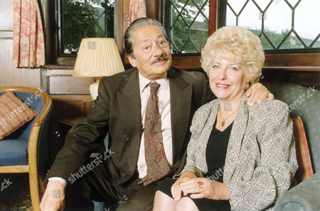 Asian Actor Saeed Jaffrey Who Has Been Sacked From The Granada Television Soap Opera Coronation Street. Pictured With His Wife And Agent Jennifer. Saeed Jaffrey Died 15th Of November 2015.