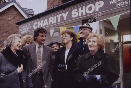 Thelma Barlow (as Mavis Wilton), Tommy Boyle (as Phil Jennings), Anne Kirkbride (as Deirdre Barlow), Bill Waddington (as Percy Sugden) and Eileen Derbyshire (as Emily Bishop)