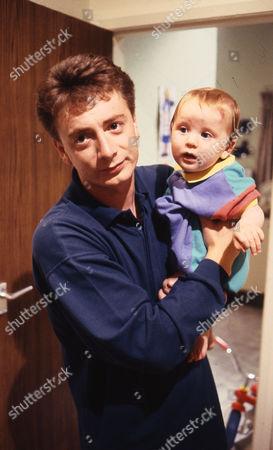 Sean Wilson (as Martin Platt) and Thomas Ormson (as David Platt)