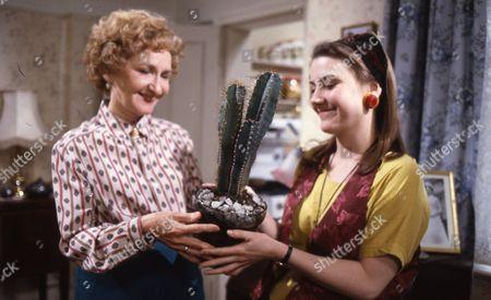 Eileen Derbyshire (as Emily Bishop) and Deborah McAndrew (as Angie Freeman)