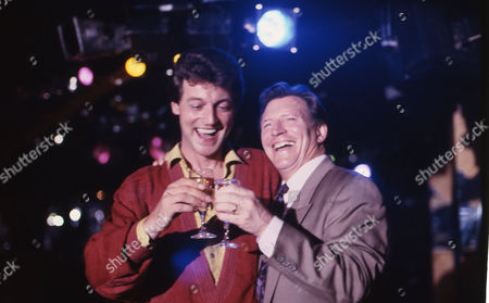 Tommy Boyle (as Phil Jennings) and Johnny Briggs (as Mike Baldwin)