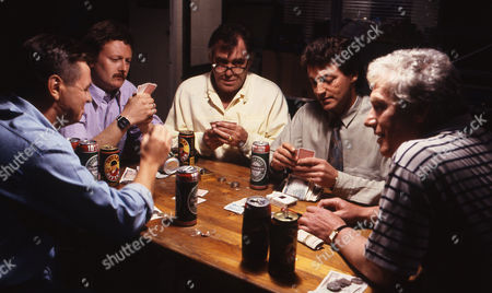 Philip Middlemiss (as Des Barnes), Charles Lawson (as Jim McDonald), William Tarmey (as Jack Duckworth), Tommy Boyle (as Phil Jennings) and Geoff Hinsliff (as Don Brennan)