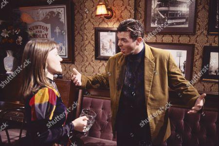 Deborah McAndrew (as Angie Freeman) and Philip Middlemiss (as Des Barnes)