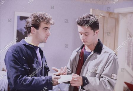Michael Le Vell (as Kevin Webster) and Stuart Wolfenden (as Mark Casey)