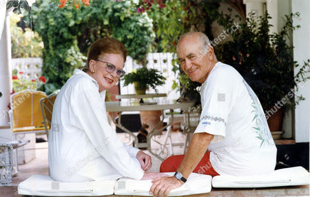 Actress Deborah Kerr And Scriptwriter Peter Viertel Are Pictured At Their Home In Southern Spain. The Couple Married On 23rd July 1960. Deborah Died 16/10/07 Of Parkinson's Disease; Peter Died 4/11/07 Of Lymphoma.