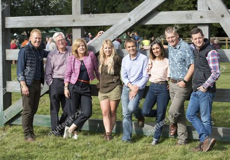 The Countryfile Tv Presenters At The Countryfile Live Event At Blenheim Palace In Oxfordshire. Adam Henson John Craven Charlotte Smith Ellie Harrison John Hammond Anita Rani Tom Heap Matt Baker. 04/08/2016 Writer David Leafe.