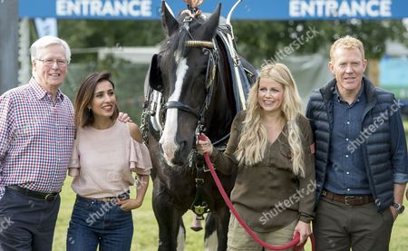 The Countryfile Tv Presenters At The Countryfile Live Event At Blenheim Palace In Oxfordshire. John Craven Anita Rani Ellie Harrison And Adam Henson. 04/08/2016 Writer David Leafe.