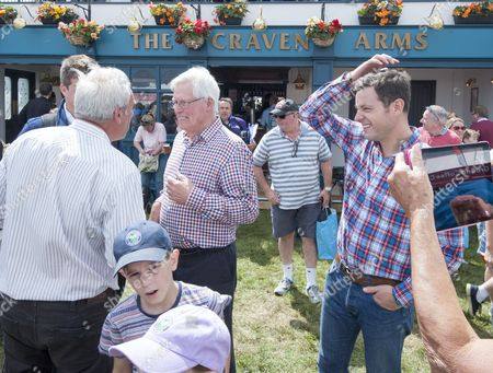 John Craven And Matt Baker In The Craven Arms At The Countryfile Live Event At Blenheim Palace In Oxfordshire. 04/08/2016 Writer David Leafe.