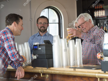 Presenter John Craven And Matt Baker In The Craven Arms Pub At The Countryfile Live Event At Blenheim Palace In Oxfordshire. 04/08/2016 Writer David Leafe.