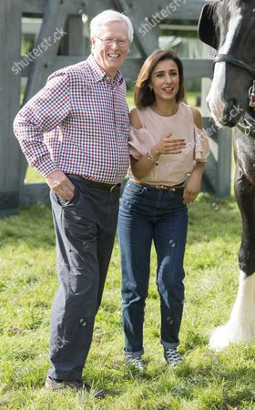 The Countryfile Tv Presenters At The Countryfile Live Event At Blenheim Palace In Oxfordshire John Craven And Anita Rani. 04/08/2016 Writer David Leafe.