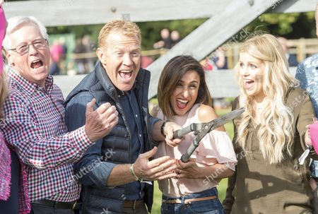 The Countryfile Tv Presenters At The Countryfile Live Event At Blenheim Palace In Oxfordshire. John Craven Adam Henson Anita Rani And Ellie Harrison. 04/08/2016 Writer David Leafe.